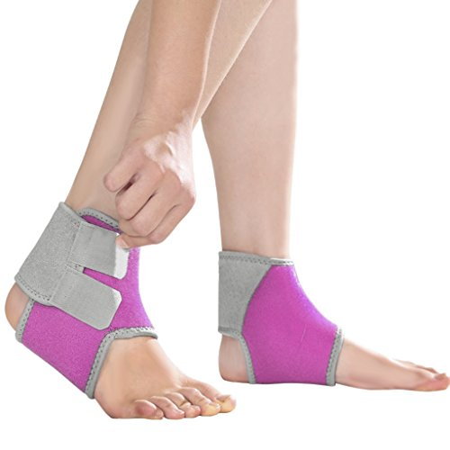 2 Pack Kids Child Adjustable Nonslip Ankle Tendon Compression Brace Sports Dance Foot Support Stabilizer Wraps Protector Guard for Injury Prevention & Protection for Sprains, Sore or Weak Ankles by BXT