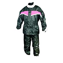 Women's AL2195 Pink/Black Rain suit 4X-Large Black/Orange