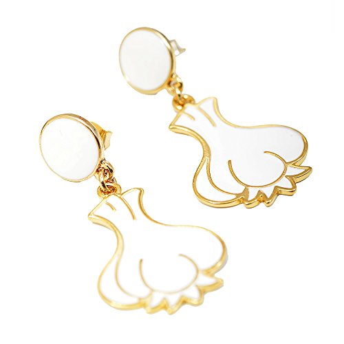 Spinningdaisy Plated White Gralic Earrings