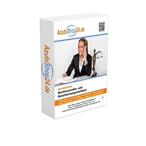 Lernkarten Rechtsanwalts- und Notarfachangestelle Prüfung: Prüfungsvorbereitung Rechtsanwalts- und Notarfachangestellte Taschenbuch – 6. April 2017 Kurt Schlemmbach Princoso 3943608603 Berufsschulbücher