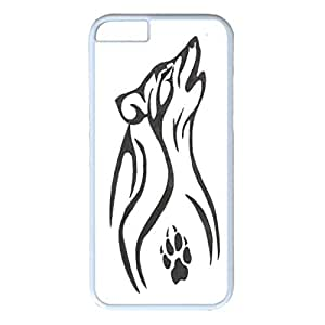 iPhone 6 Plus Case,Fashion Durable White Side DIY design for Apple iPhone 6 Plus(5.5 inch),PC material iPhone 6 Plus Cover ,Safeguard Phone from Damage ,Designed Specially Pattern from our Life with Wolf Tattoo art.Maris's Diary