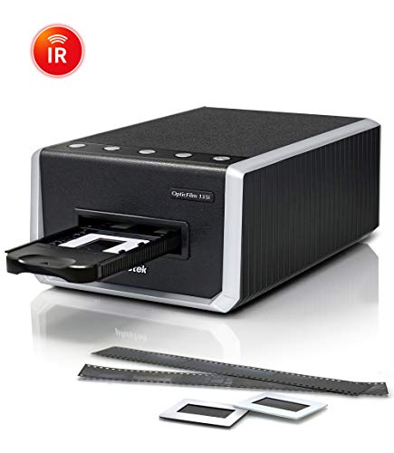 Plustek OpticFilm 135i – Automatic Film & Slide Scanner, Batch converts 35mm Slides & Film Negatives, Support 3rd Party Editing Software Export with 7200 dpi Resolution and Infrared Dust/Scratch Remo
