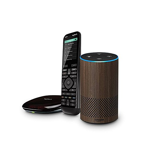 All-new Echo (2nd Generation) – Walnut Finish + Logitech Harmony Elite