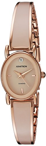 Armitron Women's 75/5423BHRG Diamond-Accented Dial Rose Gold-Tone and Blush Pink Bangle ()