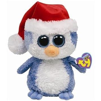Ty 36048 Peluche - Beanie Boos - Fairbanks con sombrero de Papá Noel