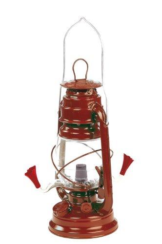 New Outside Inside Hurricane Lantern Hummingbird Feeder Painted Metal Body W/ Plastic Nectar Vessel
