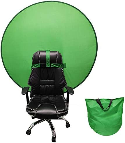 Backdrop Background - Green/Blue Portable Screen Background with Hook Strap for Chair - Pop-Up Collapsible Backdrop for Video & Photo, Studio - Reduce Light Reflection for Better Quality Picture
