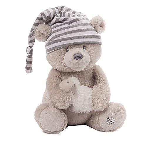 Gund Baby Animated Stuffed Teddy Bear, Sleepy Time - Gund White Teddy Bear