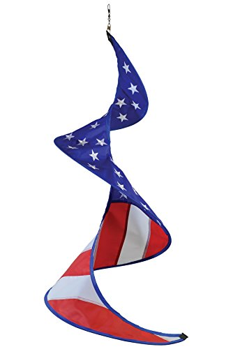 In the Breeze 5054 Stars & Stripes Solo Spinner Windsock, Patriotic