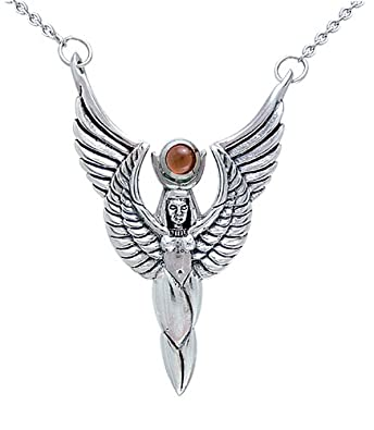 Enlightened Expressions 925 Sterling Silver Winged Isis Angel Wings