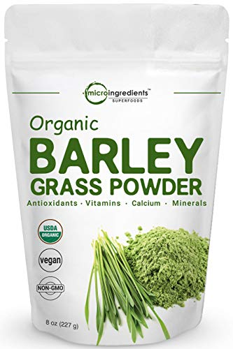 Sustainably US Grown, Organic Barley Grass Powder, 8 Ounce, Rich in Fibers, Minerals, Antioxidants, Chlorophyll and Protein, No GMOs and Vegan Friendly (Barley Vimergy Grass Powder Juice)