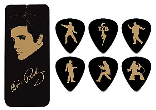 Dunlop EPPT04 Elvis Portrait Collection Pick Tin, Assorted, 6 Picks/Tin