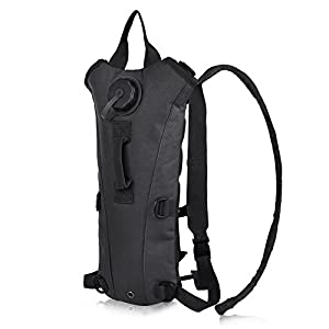 Vbiger Hydration Pack with 3L Bladder Water Bag Great for Hunting Climbing Running and Hiking (Black , One Size)