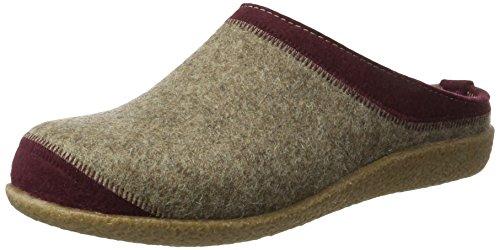 Haflinger Unisex-Erwachsene Blizzard Flax Pantoffeln Beige (Torf)