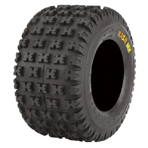 Pair of Maxxis Razr MX Rear ATV Tires Yellow Soft 18x10-8 (2)