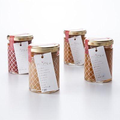 手づくり無添加ジャム(4本セット) 果肉がたっぷり。香川県産の野菜や果物を使った濃厚ジャムのセット