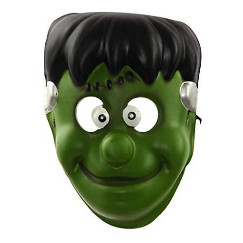 NXDA Goblin Demon EVA Children Mask Horror Novelty for Halloween Costume Party Decorations (Green Demon Costume)