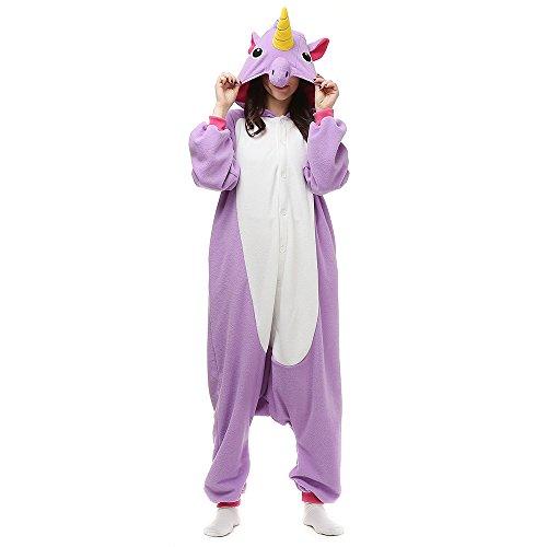 Pijamas Unisexo Adulto Traje Halloween Animal Pyjamas Cosplay Homewear LTY2Morado
