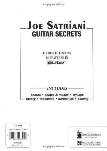 Joe Satriani Guitar Secrets Tab: Amazon co uk: Various: Books