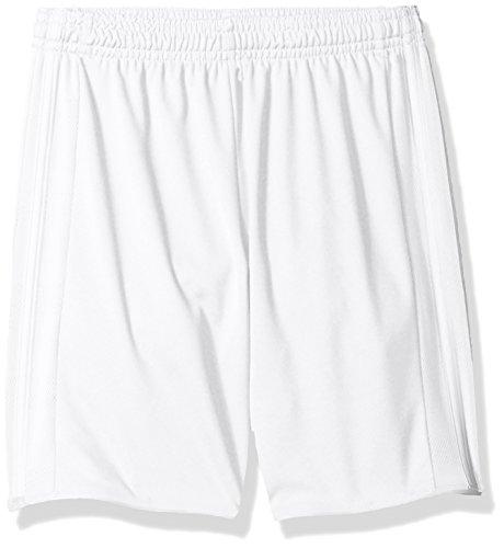 (Adidas Youth Soccer Tastigo Shorts, White/White - Small)
