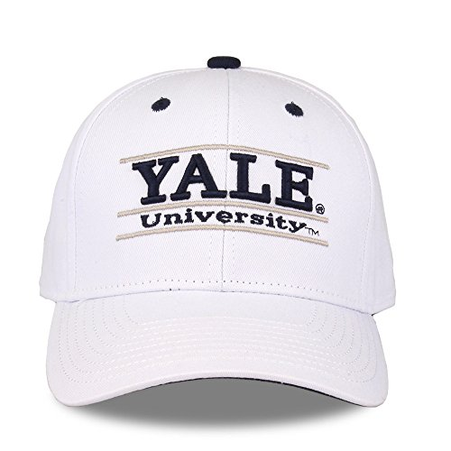 The Game NCAA Yale Bulldogs Unisex NCAA bar Design Hat, White, Adjustable