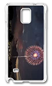 Adorable Firework Night Hard Case Protective Shell Cell Phone HTC One M8 - PC Transparent