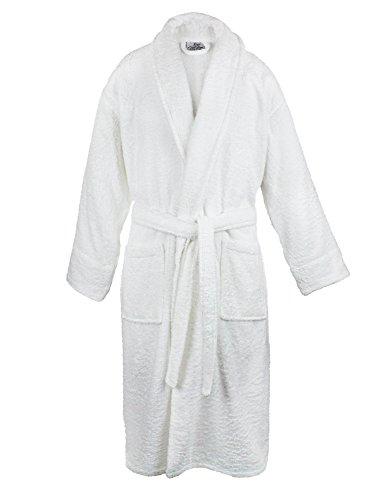 Bare Cotton 4000-0103-01 - Albornoz de Rizo para Mujer, Moderno, Blanco, Una Talla, 1, 1