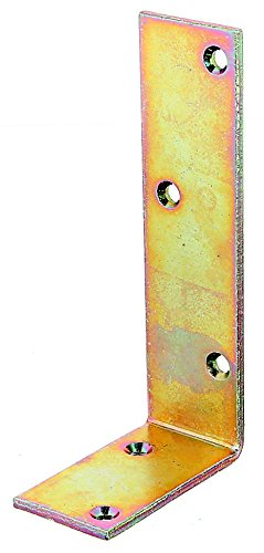 ungleichschenklig GAH-Alberts 334154 Balkenwinkel galvanisch gelb verzinkt 160 x 240 x 50 mm // 1 St/ück