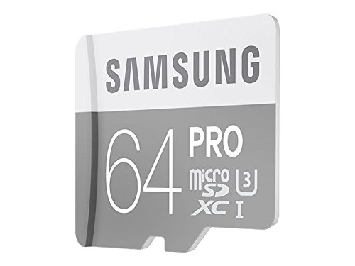 Samsung 64GB PRO Class 10 Micro SDXC Card with Adapter up to 90MB/s (MB-MG64EA/AM)