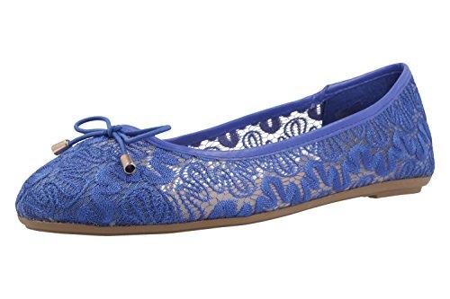 azul mujer Bailarinas para azul de tela Fitters Footwear 507qwT7X