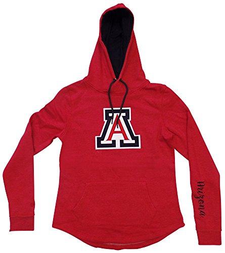 Arizona Wildcats Women's Inward Crossover Pullover Hooded Sweatshirt Large