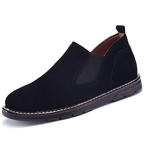 [モリケイ] チェルシーブーツ ビジネス サイドゴアブーツ メンズ スエード 焦がし ショートカット 革靴 裏起毛 スノーブーツ ウォーキングシューズ 紳士靴 ウインター 疲れない 軽量 防滑 通勤 仕事 秋冬用