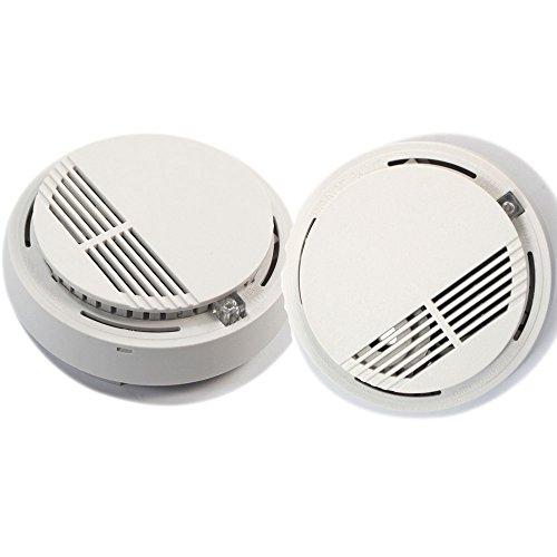 Z ZTDM 2 Pcs Wireless Carbon Monoxide Smoke Detectors Fire Alarms System White