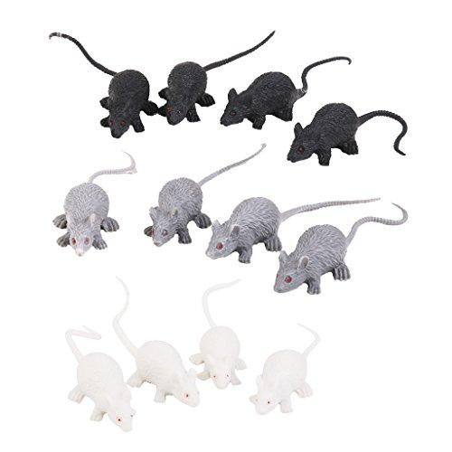 SM SunniMix 12x Plastic Vivid Rats Mouse Scary
