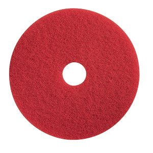 (Glit 20050 TK Polyester Blend Red Spray Buffing Floor Pad, Synthetic/Blend Resin, Talc Grit, 17