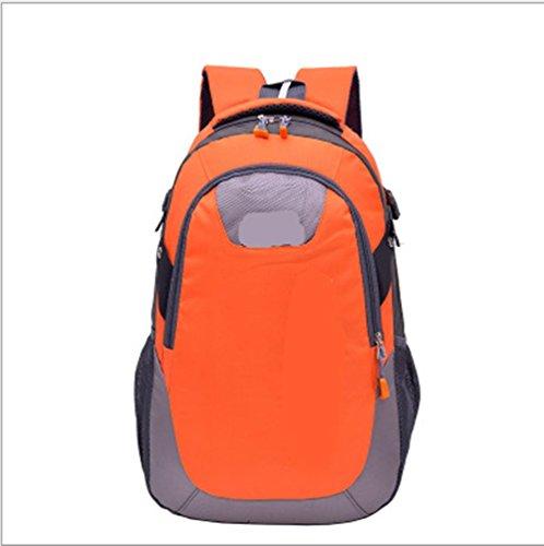 Xiuxiandianju Deportes al aire libre de 20L - 35L mochila descarga de hombres y mujeres a caballo/senderismo mochila de senderismo , light blue Orange