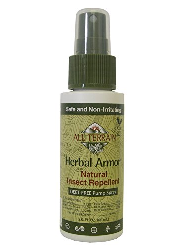 All Terrain DEET-Free Herbal Armor Insect Repellent, 2 ounce, Safe for Kids, Sensitive Skin, Effective Bug Spray Formula with Natural Essential Oils, Great for Travel, Camping, Outdoor Activities