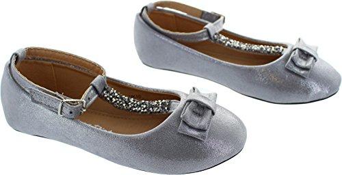 Miss Riot  Twinkle, Chaussures de ville à lacets pour fille argent Silver