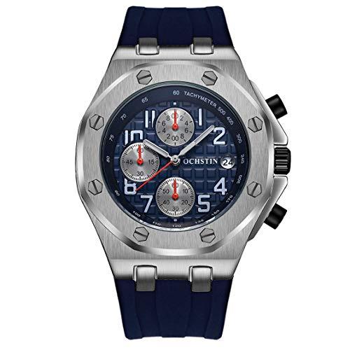 OCHSTIN 6100 Fashionable Sports Watch Silicone Water-Resistant Quartz Movement Luminous Man Wristwatch Calendar Chronograph
