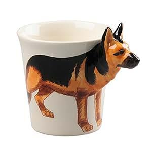 Lovely Unique 3D Coffee Milk Tea Ceramic Mug Cup With German Shepard
