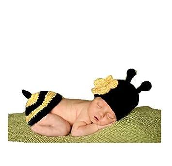 Amazon.com: eyourhappy hecho a mano de punto de Crochet Bee ...