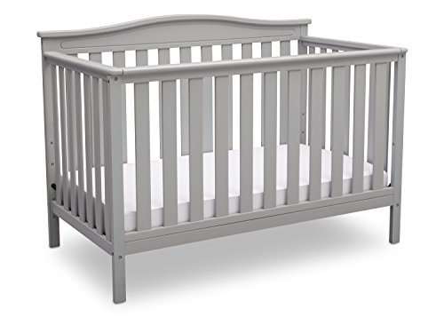 Delta Children Independence 4-in-1 Convertible Baby Crib, Grey