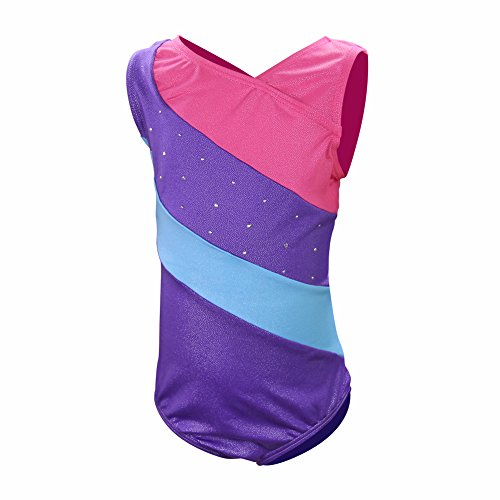 DrCosy One-piece Sparkle Gymnastic Girl Leotards Dance Unitard Athletic Bodysuit