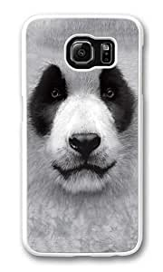 Big Face Panda Polycarbonate Hard Case Cover for Samsung S6/Samsung Galaxy S6 White
