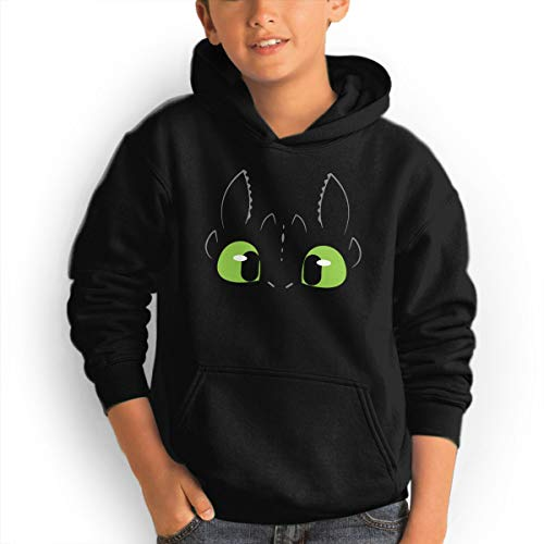 (Youth Hoodie Toothless Dragon 100% Cotton Casual Long Sleeve Sweatshirt Pullover with Pockets for Boys and Girls)