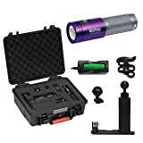 BigBlue AL1800XWP-II 1800 Lumen Tri-Color Dive Video Light (Purple with Case and Single Arm Tray)