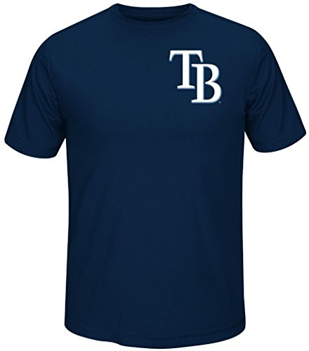 Tampa Bay Rays MLB Majestic Always Practice Mens Synthetic Crewneck Shirt Navy Blue Big Sizes (4XL)