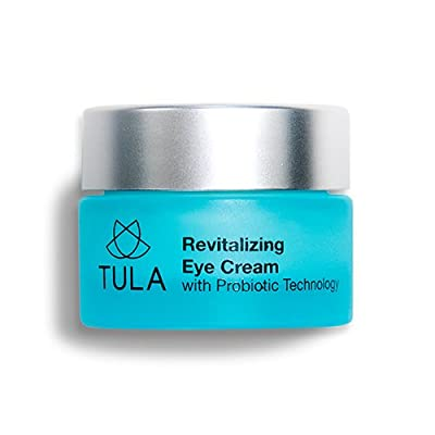 TULA Skin Care Revitalizing Eye Cream with Probiotic Technology - Minimizes Fine Lines, Dark Circles & Puffiness, 0.5 oz