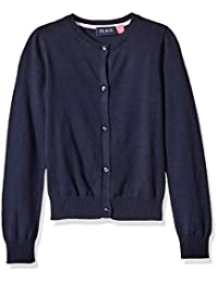 The Children's Place girls My Favorite Crewneck Cardigan