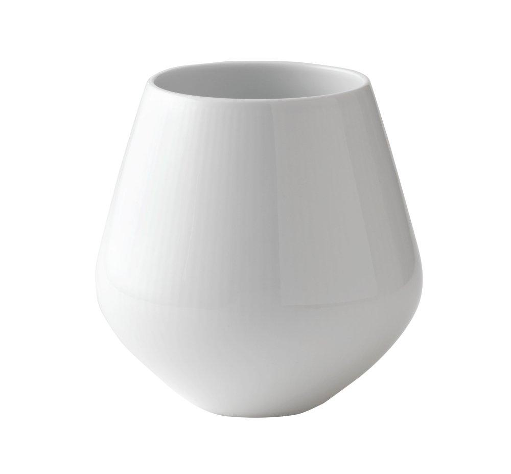 Royal Copenhagen White Fluted Plain Vase, 6''